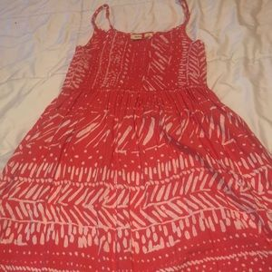 coral colored sundress